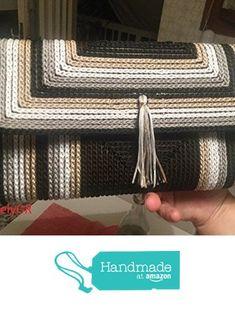 Women's Crocheted Bobbin Purse Plastic Canvas Handbags Bags&Purses Summer Bags from LovelyGR