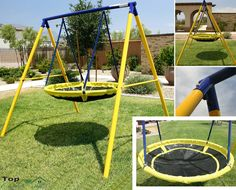 Playground Swing Set Toddler Outdoor Backyard Kids UFO Playset Children Fun  Play