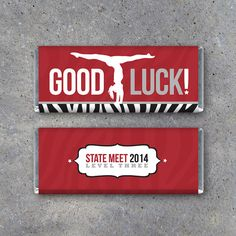 Gymnastics GOOD LUCK Candy Bar Wrapper – Printable Personalized Hershey's Bar Wrapper with your team colors & message – Gymnastics Gifts Hershey Candy Bars, Hershey Bar, Candy Bar Wrapper Template, Candy Bar Wrappers, Gymnastics Gifts, Gymnastics Stuff, Gymnastics Quotes, Cheerleading Gifts, Cheer Gifts