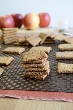 homemade apple cinnamon graham crackers- this is what Leo and I are doing tomorrow.
