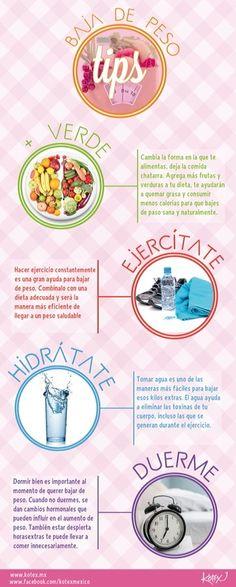 Tips para bajar de peso.