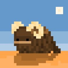 "A Bantha, the infamously hairy beast of burden from the ""Star Wars"" Universe, now rendered in it's own very tiny 28 x 28 pixel scene. Who doesn't love a tiny Bantha ? Quilting Designs, Quilt Design, Tusken Raider, Star Wars Decor, Han And Leia, Obi Wan, Moving Pictures, Pixel Art, Beast"
