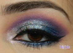 sparkly eye shadow greens and purples oh so lovely