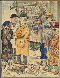 "George Grosz, ""Amor Lichtspiele, 1924"