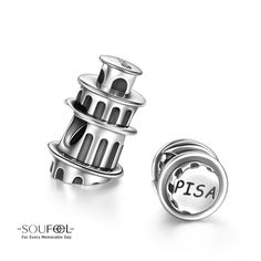 Soufeel Leaning Tower of Pisa Charm 925 Sterling Silver Compatible All Brands Basic Bracelet. For Every Memorable Day