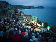 Theatre on the rocksMinack Theatre, Cornwall, EnglandAs the sun sets on the clifftops, the night's entertainment has just begun at the Minack Theatre in Cornwall. This atmospheric open-air stage plays host to drama, musicals and opera every summer. More info
