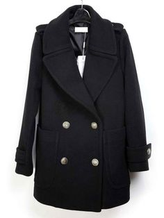 Vintage Wool Suit Collar Women s Coat Hooded Winter Coat, Tweed Coat,  Cashmere Coat, d4fb9d09d54
