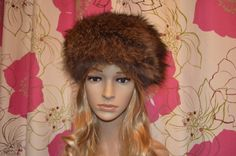 Vintage brown real fur Rusian style hat  great by ClaireLouVintage