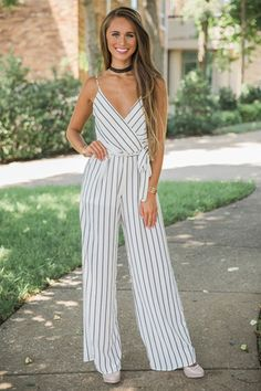 Don't Play With My Heart Jumpsuit Jumper Outfit Jumpsuits, Jumpsuit Outfit, Romper Pants, Summer Wedding Outfits, Summer Outfits, Cute Outfits, Yellow Jumpsuit, Striped Jumpsuit, Fashion Mode