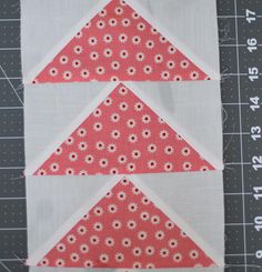 Spring Flowers Flying Geese Quilt Block   Makes for the best homemade quilts!