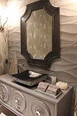 Hand-Carved Marble Bathroom Tile