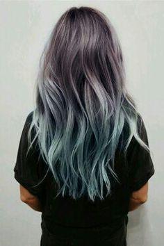 #haircut #blue #purple #pink #long