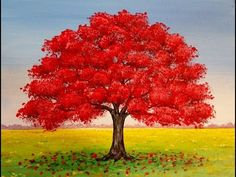 Join artist Angela Anderson as she teaches how to paint a simple fall landscape with a red oak tree. This free beginner lesson will be taught through live st. Fall Tree Painting, Simple Oil Painting, Easy Canvas Painting, Simple Acrylic Paintings, Acrylic Painting Techniques, Canvas Paintings, Painting Flowers, Tree Paintings, Diy Canvas