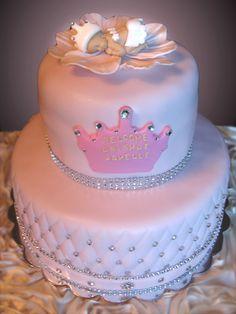 Princess baby shower theme cake