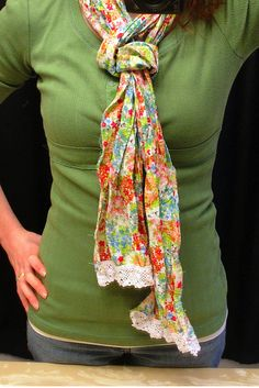 I really like this crinkled flowery scarf