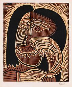 Pablo Picasso - Portrait de Jacqueline accoudé, au collier (1959) http://www.kettererkunst.com/details-e.php?obnr=101001987&anummer=368