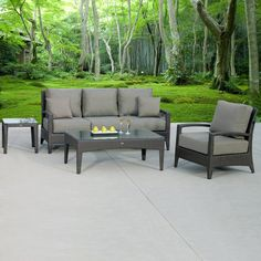 New Miami Lakes 4 Piece Deep Seat Set Outdoor Seating, Outdoor Decor, Outdoor Wicker Patio Furniture, Tommy Bahama, Cool Furniture, Lakes, Miami, Deep, Design