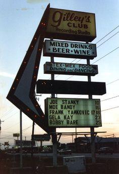 Gilley's Night Club Spencer Hwy. Pasadena, Texas. It sure was fun, way back when!