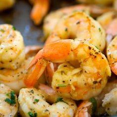 Shrimp scampi note to self use olive oil instead of veg oil bit