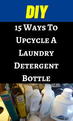 Detergent Bottles, Laundry Detergent, House Cleaning Tips, Spring Cleaning, Cleaning Hacks, Fun Crafts, Diy And Crafts, Diy Funny, Diy Hacks