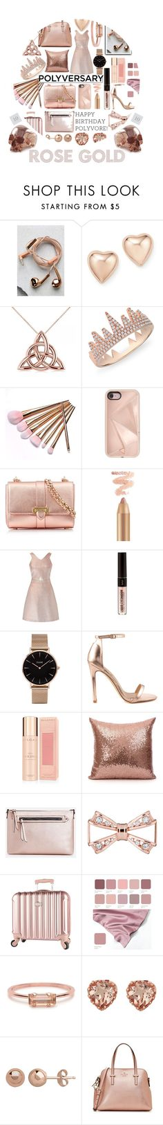 """""""Celebrate Our 10th Polyversary!"""" by numbsunday ❤ liked on Polyvore featuring Happy Plugs, Bloomingdale's, Allurez, Anne Sisteron, White Label, Rebecca Minkoff, Aspinal of London, Miss Selfridge, CLUSE and Liliana"""