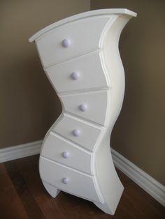 crazy wonky dresser creation using gorilla glue