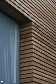 Wood Cladding Exterior, Cladding Design, House Cladding, Wood Facade, Wall Exterior, Timber Cladding, House Siding, Detail Architecture, Wood Slat Wall