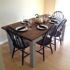"""Farm house table based on """"Rustic Table"""" plans 