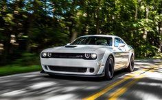Lataa kuva tie, Dodge Challenger SRT Hellcat, 2018 autoja, superautot, Dodge