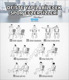 İş yerinde yapılabilecek spor egzersizleri