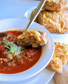 The Bojon Gourmet: Smoky Tomato Butterbean Soup, with Herbed Cheddar Biscuits