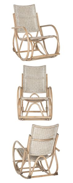 Get lost in all the loops and swirls of this design. Rattan and wood come together to deliver a marvelously old-school, Quaker-style seat. The Angeline Rocking Chair brings a little taste of early Amer...  Find the Angeline Rocking Chair, as seen in the Bohemian Sanctuary Collection at http://dotandbo.com/collections/bohemian-sanctuary?utm_source=pinterest&utm_medium=organic&db_sku=118597