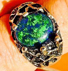 Men's Ring Sale. Spectacular Genuine Australian Opal by AmyKJewels