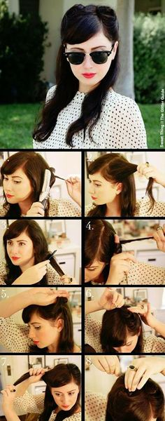 48 ideas for hair tutorial pin up victory rolls - Hair Styles Cabelo Pin Up, Peinados Pin Up, Victorian Hairstyles, Retro Hairstyles, Wedding Hairstyles, Pelo Color Gris, Looks Rockabilly, Victory Roll Hair, Victory Curls