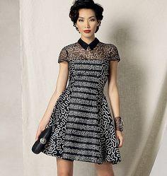 Vogue Patterns Misses'/Misses' Petite Fit and Flare Dress 1484