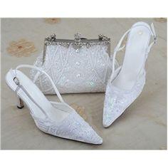 Charming Stiletto Heels Closed-toe Satin Wedding Shoes