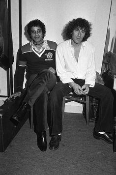 Alain Souchon et Laurent Voulzy à Paris en décembre 1977.