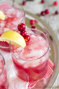 Sparkling Cranberry Punch add lemonade ,cranberries lemon and sparkling water,cranberry juice with ice. www.tasteandtellblog.com