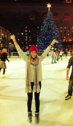 love Lauren Conrad! a cute look for outdoor ice skating :)