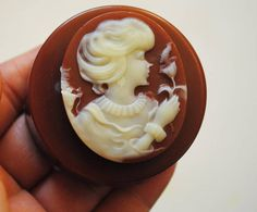 Handmade 2 x women with flower soap cameo type soap Birthday