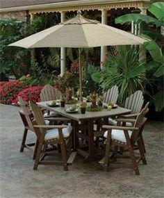 Amish Made in USA Polywood 7 Piece Garden Iris Patio Dining Set