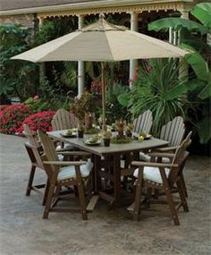 Amish Made in USA Polywood 7 Piece Garden Iris Patio Dining Set