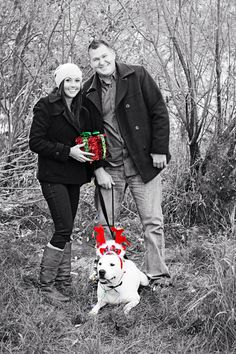 Couple Photo Ideas With Dog Photography Couples Photos Christmas CardsFamily