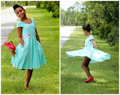 Summer / Peplum / Dress PDF Sewing Pattern  -  The Vivienne, video instructions, retro dress, 50ies dress, asymmetrical collar, party, cute
