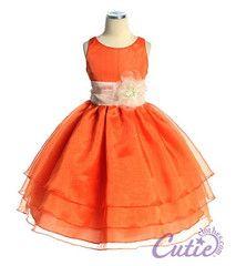orange  flower girl dress  Love it w/cowboy boots ;)