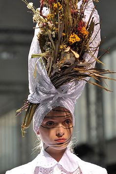 The whole bouquet!  Not for me but it looks great on model Katsuya Kamo for Junya Watanabe