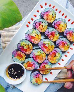 Rainbow Unicorn Sushi  theindigokitchen
