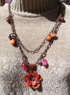 Desert Wildflower  necklace & earrings set SOLD!