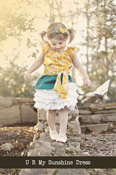 U R My Sunshine Dress Pattern and Tutorial