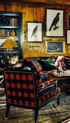 Ralph Lauren, Tartan, Cabins And Cottages, Western Decor, The Ranch, My New Room, Family Room, House Design, Furniture